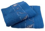 Maritime Handtücher Blue Summer in blau oder weiß